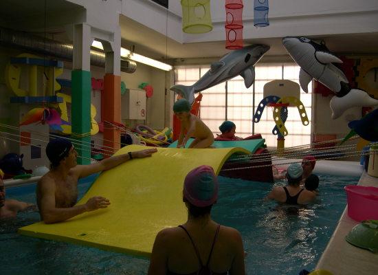 in piscina senza paura